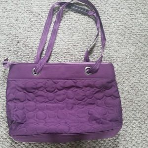 Thirty-one large purple tote bag